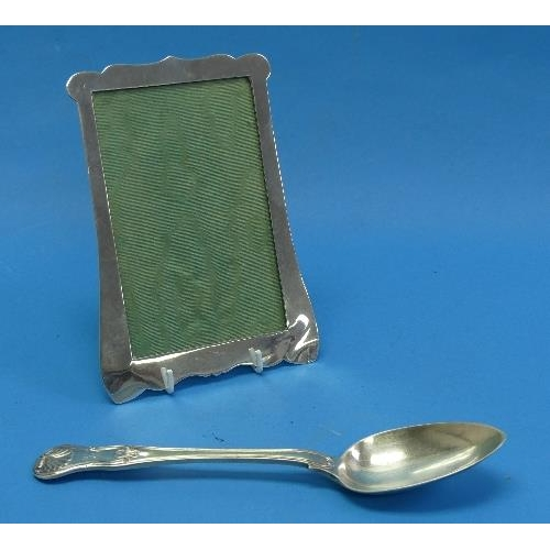 32 - A silver mounted Photograph Frame, hallmarked Birmingham 1911, easel reverse missing, together with ...