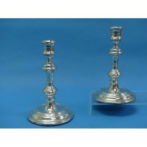 41 - A pair of Elizabeth II silver Candlesticks, by Harrods Ltd (Richard Woodman Burbridge), hallmarked L...