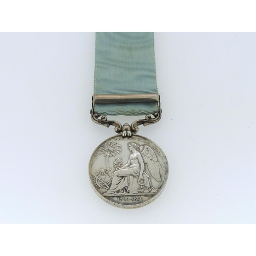 49 - Army of India Medal, 1851, named to J. Thurston. Grs. Crew, with Ava clasp. John Thurston from Deal ...