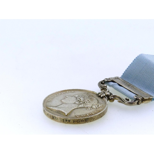50 - Army of India Medal, 1851, named to Lieut. A. H. Ormsby. 1st Foot, with Ava clasp. Confirmed on the ...