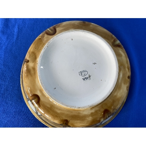 4 - A Minton Sucessionist tube lined Bowl, marked on the base 'Minton Ld. No.14', the stylised foliate d...