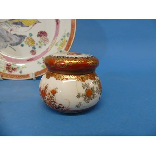 11 - A Small Quantity of Oriental Ceramics,comprising a Kutani lidded pot, with fitted liner, a Kutani T...