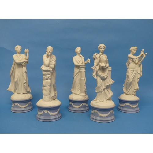 55 - A small quantity of Wedgwood; The Classical Muses Collection;comprisingEuterpe, limited edition 26...