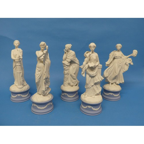 56 - A quantity of Wedgwood; The Classical Muses Collection, comprisingEuterpe 179/12500; Callilope 1403...