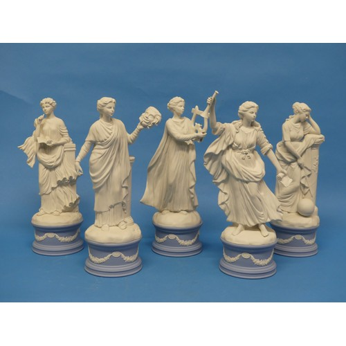 57 - A quantity of Wedgwood; The Classical Muses Collection,comprisingCallilope 84/12500; Thalia 257/12...