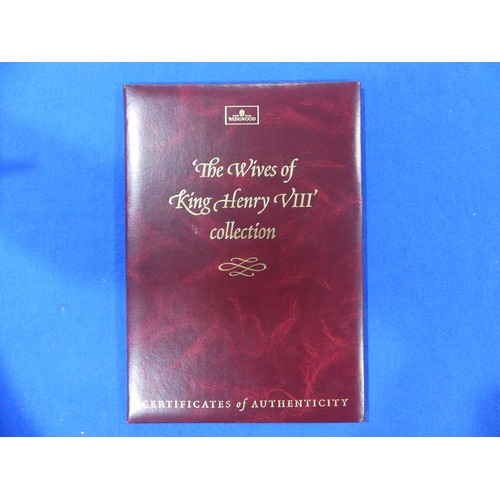 58 - Wedgwood; Henry VIII and Wives Collection; comprising Henry VIII, on plinth, limited edition number ...