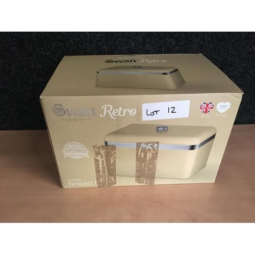 12 - Swan bread bin...