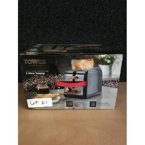 21 - Tower 2 slice toaster...