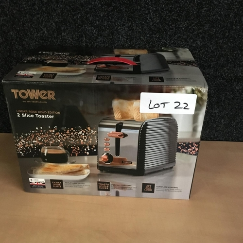 22 - Tower 2 slice toaster...