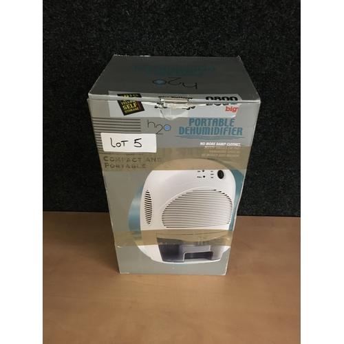 5 - Portable dehumidifier...
