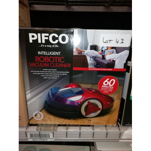 43 - Pifco Robot Vacuum Cleaner RRP £100...