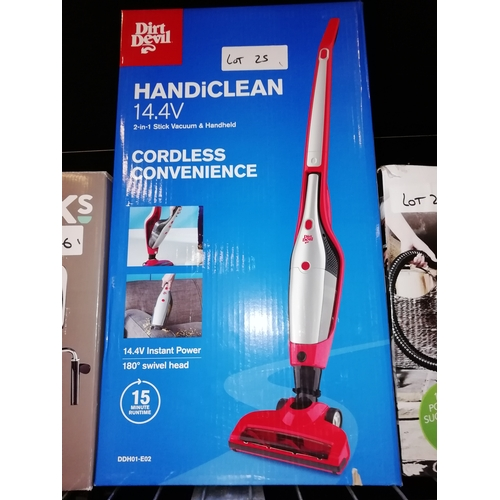 25 - Dirt Devil HandiClean Cordless Vacuum...