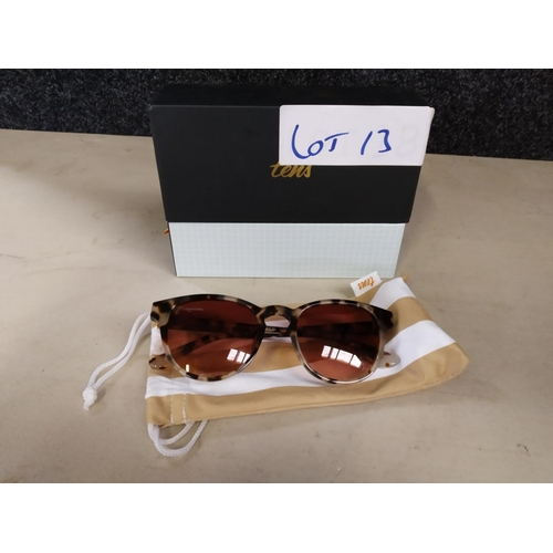 13 - Tens black sunglasses rrp £80...