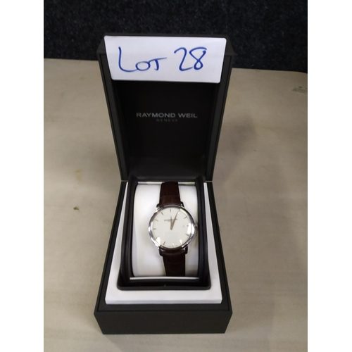 28 - Raymond Weil Watch RRP £650...