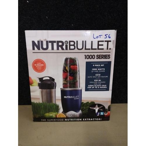 56 - Nutribullet 9 piece 1000 juicer rrp £100...