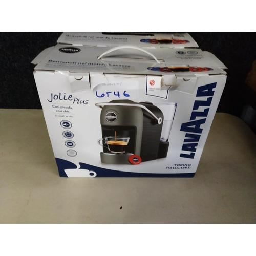 46 - Lavazza Jolie plus espresso machine  rrp £80...