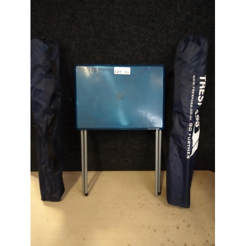 70 - camping table and 2 chairs. rrp £35...