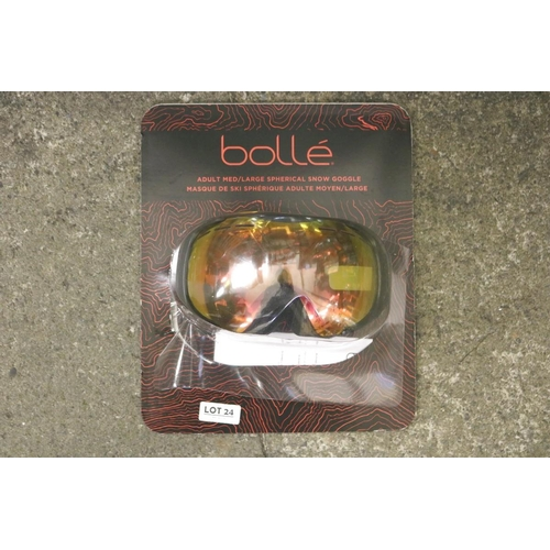 24 - PACKAGED PAIR OF BOLLE ADULT SNOW GOGGLES - M/L...
