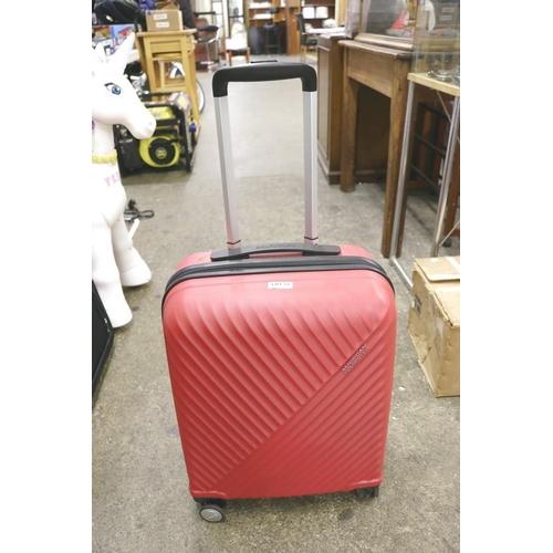 53 - RED AMERICAN TOURISTER CABIN CASE...