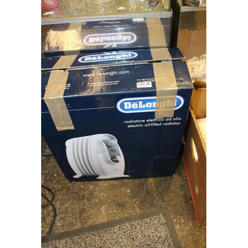 38 - BOXED DELONGHI 5 FIN RADIATOR...