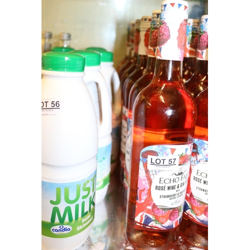 57 - 6 X BOTTLES ECHO FALLS ROSE WINE AND GIN FUSION...