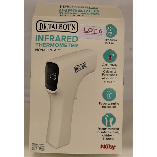 6 - BOXED DR TALBOTS INFRARED THERMOMETER