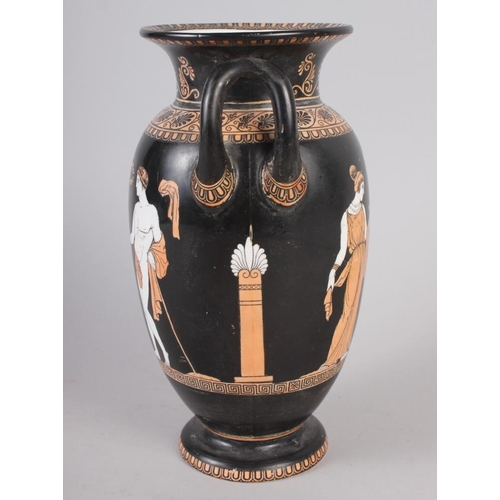 8 - A Copeland Greek style two-handle vase, decorated classical figures, 8 1/4