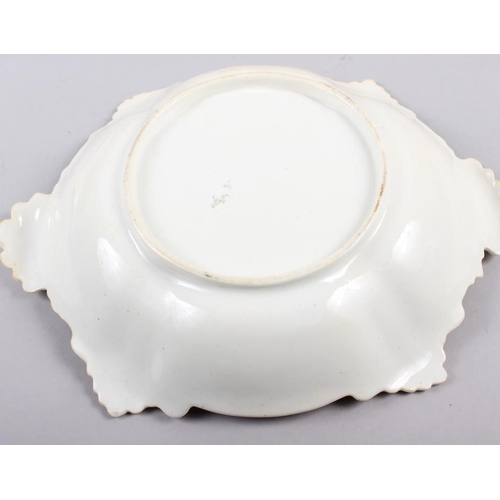 1 - A Rockingham porcelain part dessert service, comprising six plates and two dessert dishes with grey ...