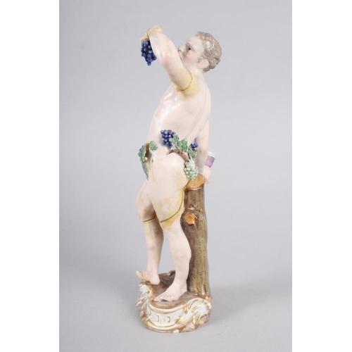 23 - An 18th century Meissen figure of Bacchus, 8