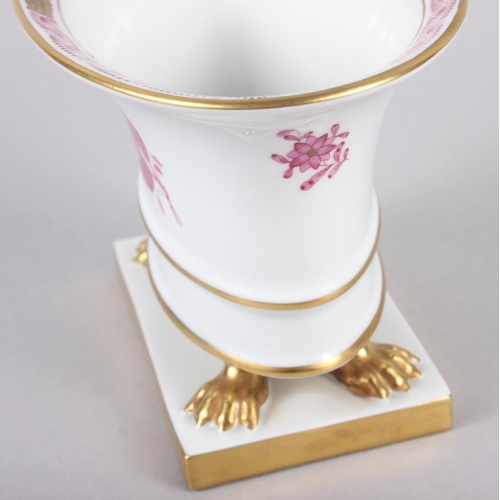25 - A Herend menu card holder, formed as a dolphin with gilt decoration, 3