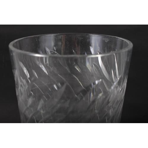 17 - A Clyne Farquharson? cut glass vase, 9 1/4