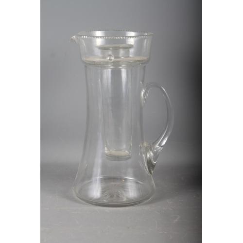 22 - A clear glass Pimm's/lemonade jug, 14 1/4