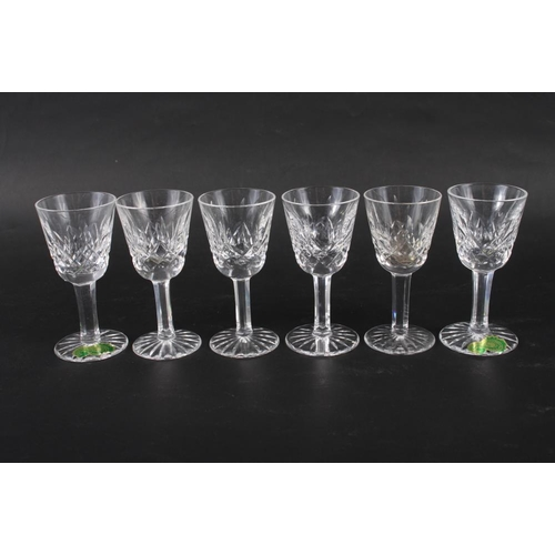 14 - A set of six Waterford cut glass liqueurs, 3 1/2