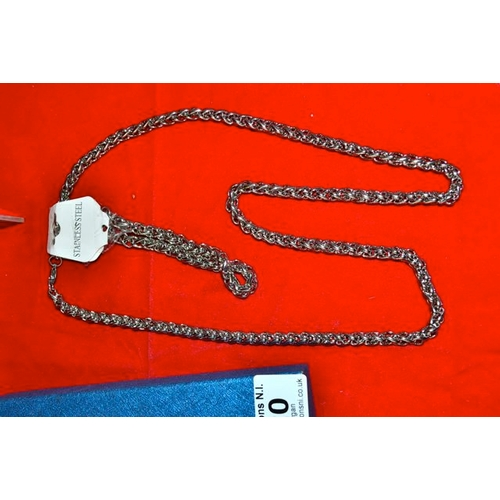 20 - Stainless Steel Necklace & Bracelet Set...