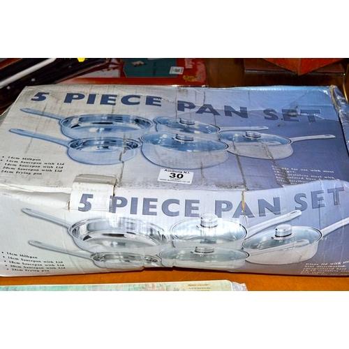 30 - 5 Piece Pan Set...