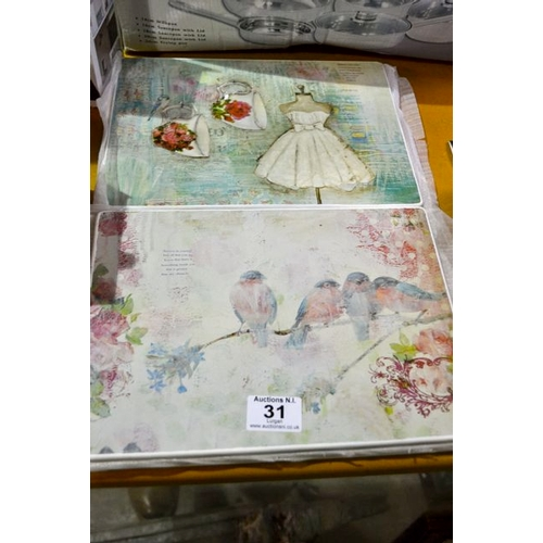 31 - Set of 6 Placemats - New...