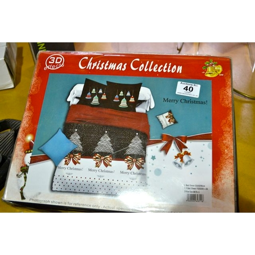 39 - Christmas Collection Bed Set - 220x230cm...