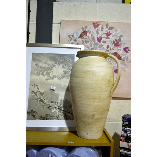 51 - Picture x 2 + Large Vase...