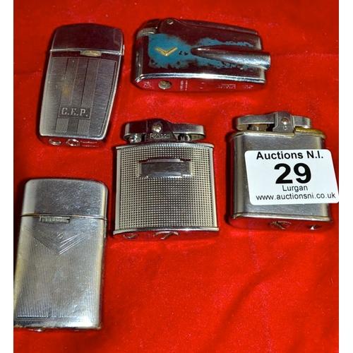 29 - Ronson Lighter x 5...