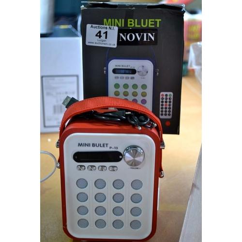 41 - Mini Bulet Digital Multimedia Speaker with Lights...