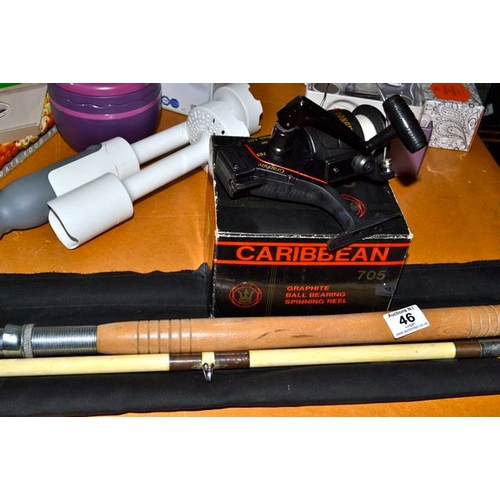 46 - Fishing Rod + Caribbean Graphite Spinning Reel...