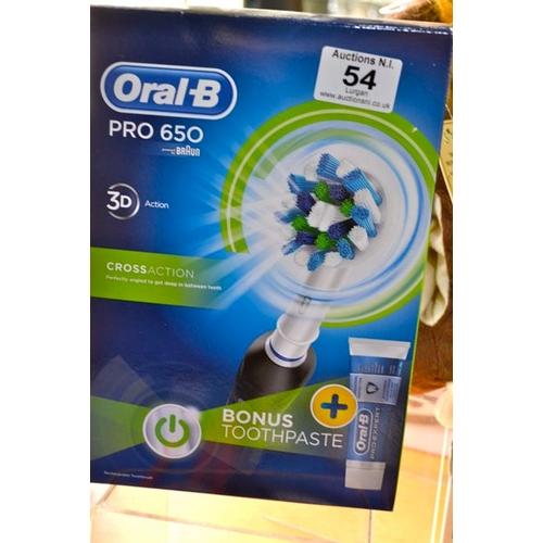 54 - Oral B Pro 650 Black Toothbrush...