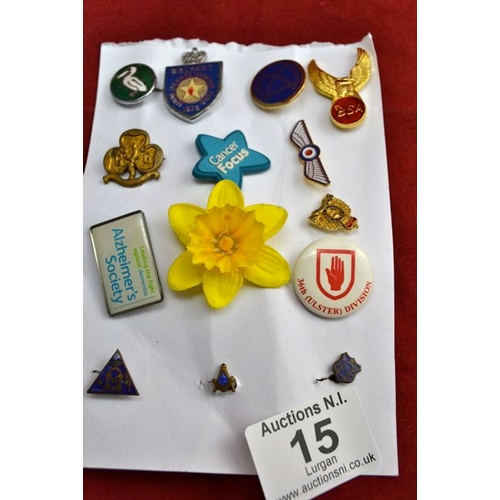 15 - Collection of Badges...