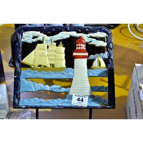 44 - Cast Lighthouse Bookrest...