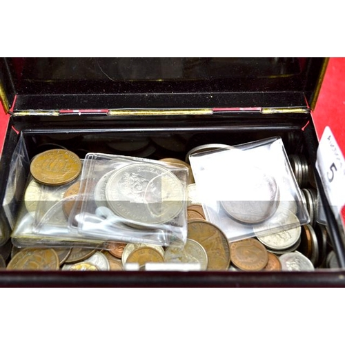5 - Metal Case of Coins...