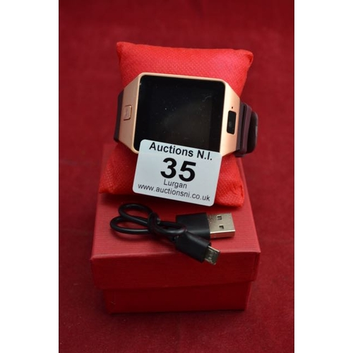 35 - Smart Watch with Camera - Place for SIM/Memory Card...