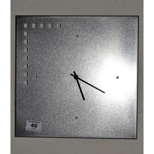46 - Steel Contemporary Clock...