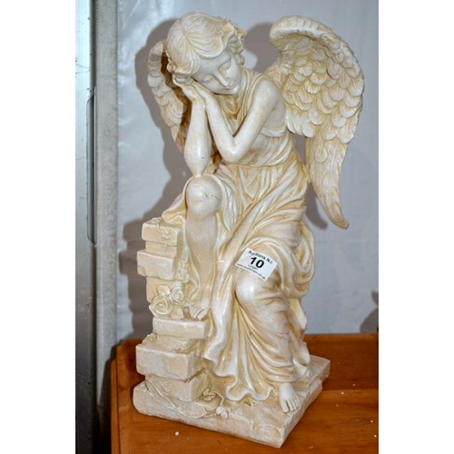 10 - Stone Effect Angel on Wall...