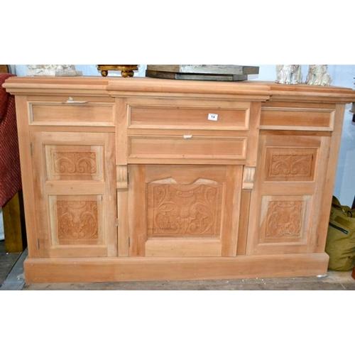 14 - Carved Ornate Sideboard...