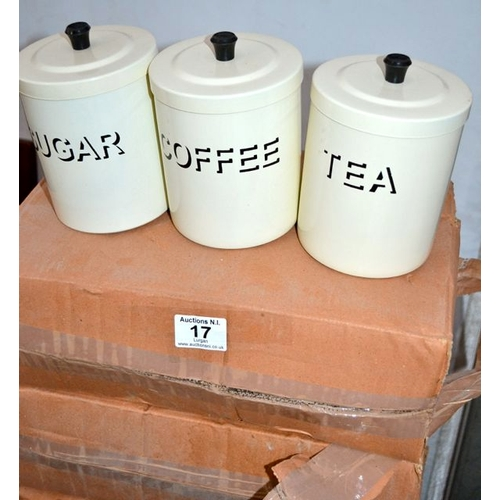 17 - 4 x Tea/Coffee/Sugar Canisters...